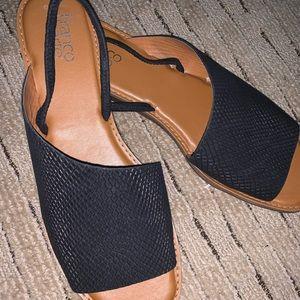 Franco Sarto Glory Snake Embossed Leather Sandal